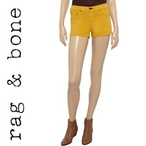 Rag & Bone Yellow Mustard Denim Shorts